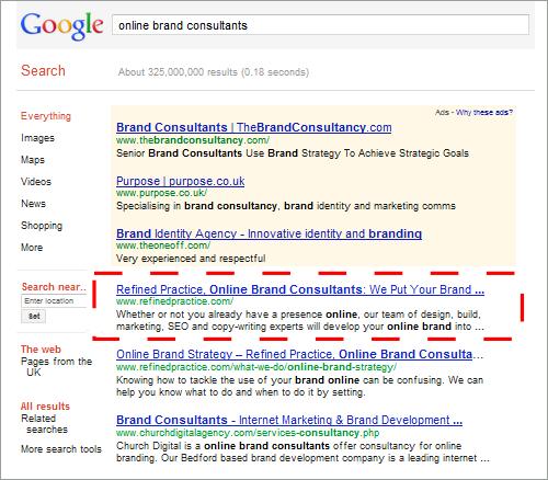 Refined Practice: Number 1 Online Brand Consultants on Google UK