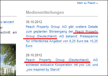 Screen-grab of http://www.peachproperty.de/