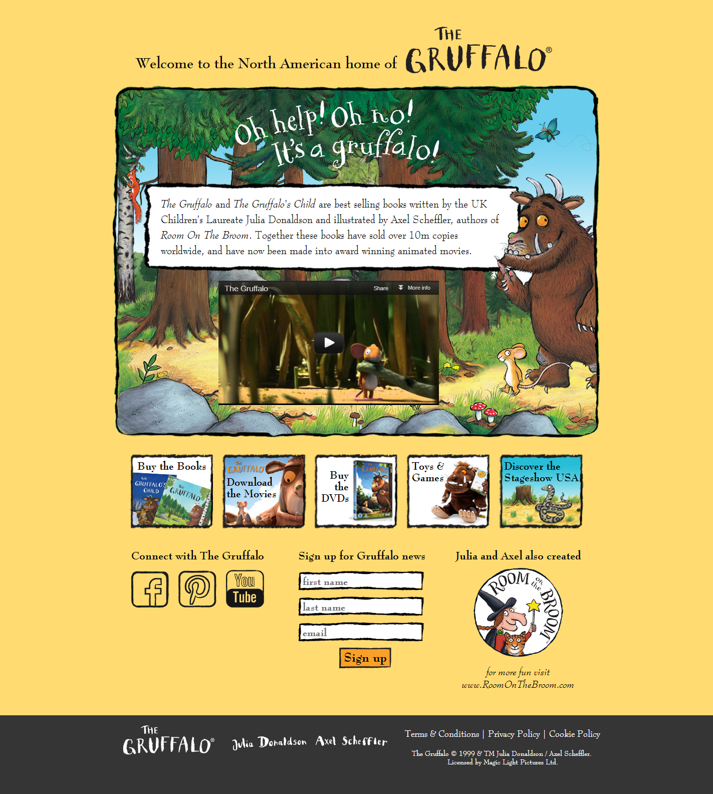 New Home for The Gruffalo in North America