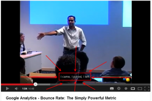 """Google Analytics - Bounce Rate: The Simply Powerful Metric: """"I came, I puked, I left"""""""