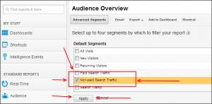 The Non-Paid Search Traffic Advanced Segment in Google Analytics