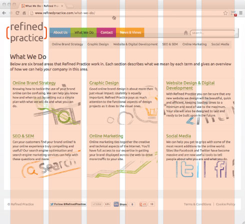 Refined Practice website grid