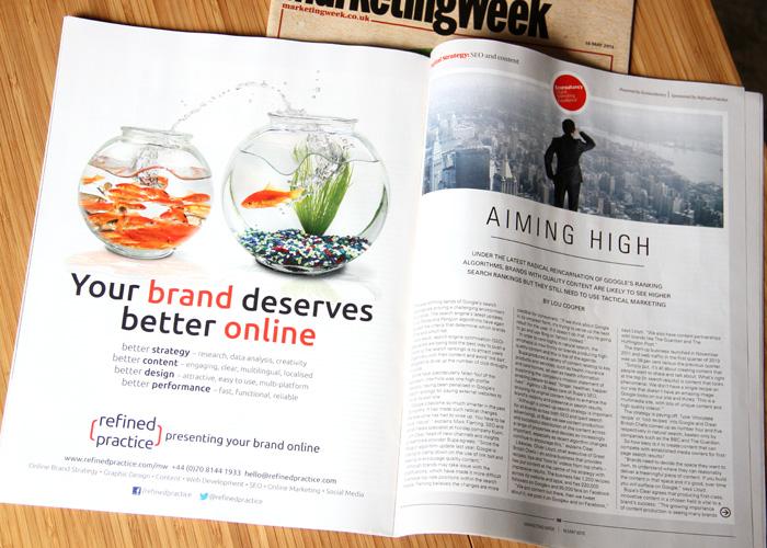 Advertising in Marketing Week