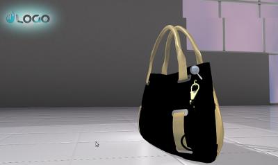 WebGL model of a handbag